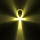 Ankh Egyptian symbol of life light flare Royalty Free Stock Photos