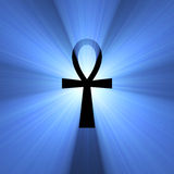 Ankh Egyptian symbol of life light flare Royalty Free Stock Image