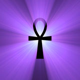 Ankh Egyptian symbol of life light flare Royalty Free Stock Images