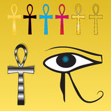 Ankh set Royalty Free Stock Photo