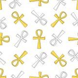 Ankh symbolu wzór Obrazy Royalty Free