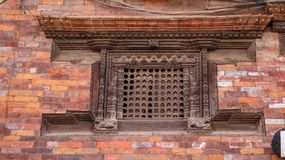 Ankhi Jhyal, traditionelles Nepali Fenster lizenzfreies stockbild