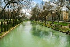 Ankhor Canal And Trees In Tashkent, Uzbekistan Royalty Free Stock Image