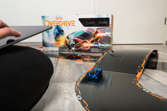 Anki Overdrive toy car racing Royalty Free Stock Photos