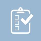 Ankiety ikona Zdjęcia Stock