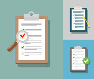 Ankiety ilustracja Listy kontrolnej ilustracja Ankiety lista kontrolna Ic Obraz Stock