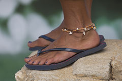 Ankle bracelet Stock Photo