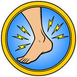 Ankle Injury. Cartoon illustration of  an Ankle Injury Royalty Free Stock Photos
