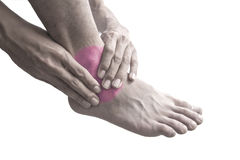 Ankle pain. Royalty Free Stock Images