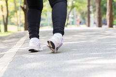 Ankle sprain while jogging. In the park Stock Photography