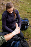 Ankle Tensor Bandage Stock Photo