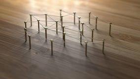 Anknyta enheter Nätverk nätverkande, socialt massmedia, internet Co Arkivfoton