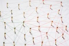 Anknyta enheter Nätverk nätverkande, socialt massmedia, internetkommunikationsabstrakt begrepp Ett litet nätverk förbindelse till arkivbild