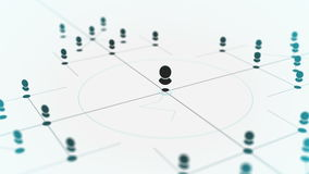 Anknyta enheter Nätverksteknologi, information om rengöringsdukdatanätverkande, socialt massmedia, internetkommunikationsabstrakt stock video