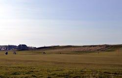 Anknyter golf, pickolaflöjten, Skottland Arkivbilder