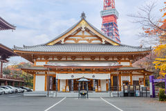 Ankokuden Hall at Zojoji Temple in Tokyo Stock Photography