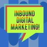 Ankommande Digital för handskrifttext marknadsföring Begrepp som digitalt betyder van vid beståndsdelar för att förbinda med kons arkivfoto