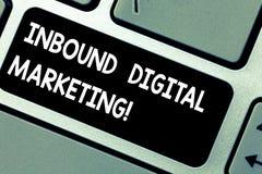 Ankommande Digital för handskrifttext marknadsföring Begrepp som digitalt betyder van vid beståndsdelar för att förbinda med kons arkivfoton
