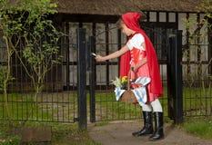 ankommande farmorhus s royaltyfri bild