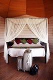 ankommande hotell maldives Royaltyfri Foto