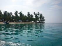 Ankommande San Blas Panama Arkivbild