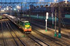 ankommande station Fotografering för Bildbyråer