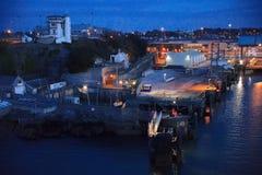 Ankommender Plymouth Hafen Armorique, der späteste Zusatz zu Brittany Ferries ' Flotte, Millivolt Armorique, das in Plymouth anko Lizenzfreie Stockfotografie