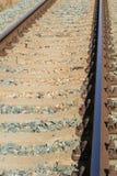 ankommer plattformsjärnvägen som ska utbildas Royaltyfri Bild