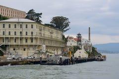 Ankomst på den Alcatraz ön royaltyfri foto
