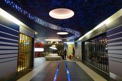 Ankomstkorridor av den Haneda flygplatsen, Japan Royaltyfria Foton
