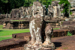 Ankor Lion, day sculpture, famous Royalty Free Stock Image