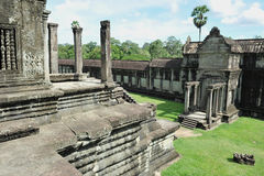 Ankor Wat. Angkor Wat Temple in Cambodia - Angkor Wat was the Seat of the 12th Century Khmer Empire Stock Image