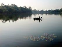 Ankor Wat Fisherman Stockbild