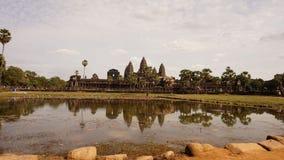 Ankor-wat mit Siem Reap lizenzfreie stockfotos