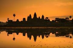 Ankor Wat, photo taken at sunrise Royalty Free Stock Photos