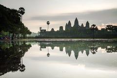 Ankor Wat, photo taken at sunrise Stock Images