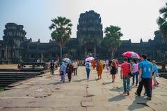 Ankor Wat, Siem Reap, Cambodja Arkivfoto
