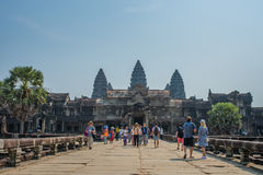 Ankor Wat, Siem Reap, Cambodja Arkivbilder