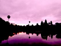 Ankor Wat Sunrise Royalty Free Stock Photos