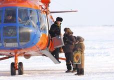 Ankunfts-Kommission auf Wahlen in der Expedition Stockbild