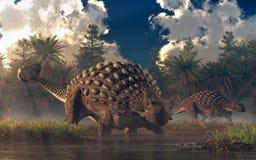 Ankylosaurs ilustração stock
