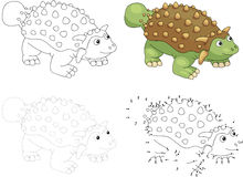 Ankylosaurus κινούμενων σχεδίων επίσης corel σύρετε το διάνυσμα απεικόνισης Σημείο για να διαστίξει το παιχνίδι για το Κ Στοκ φωτογραφία με δικαίωμα ελεύθερης χρήσης