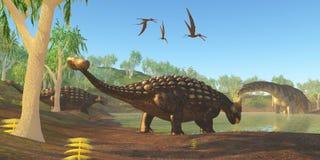 Ankylosaurus Arkivbild