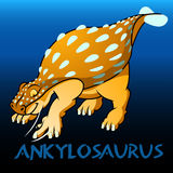 Ankylosaurus cute character dinosaurs Royalty Free Stock Images