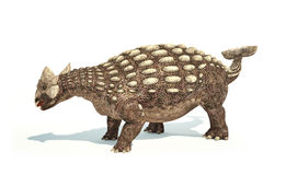 Ankylosaurus Dinosaur photorealistic representation. Dynamic posture. royalty free illustration