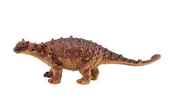 Ankylosaurus dinosaurs toy figure. On white background Stock Image