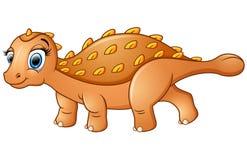 Ankylosaurus heureux de bande dessinée Images libres de droits