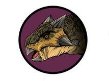 Ankylosaurus mignon de bande dessinée Illustration d'isolement d'un dinosaure de bande dessinée illustration stock
