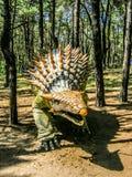 ankylosaurus ochraniający skorupą i gwożdżący, zdjęcie stock
