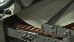 Anlage der Produktion der Nudeln stock video footage